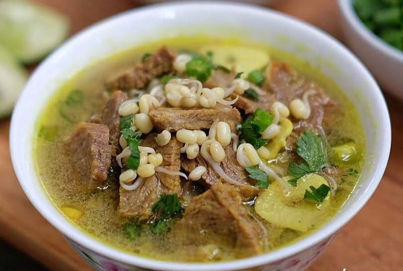 cara buat soto daging sapi bening